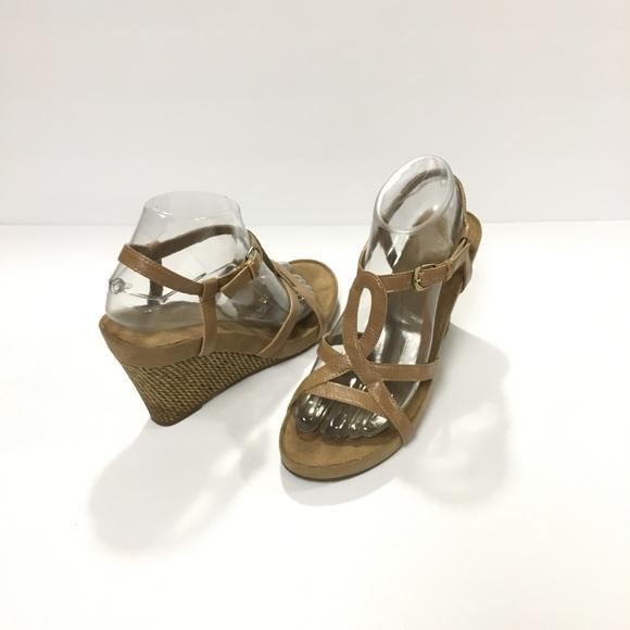 48ab1719a6c Aerosoles Lux Plush Tan Wedge Sandal Size 8. AEROSOLES.  M 5c9f1c1619c1577e21786cb5. M 5c9f1c1310f00fba95bdfb67.  M 5c9f1c1579df27e9d6085a79